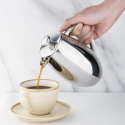 Gerundete Isolierte French Press Edelstahl Olympia 35 cl oder 80 cl